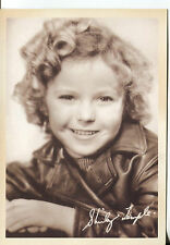 PICTURE POST CARD OF SHIRLEY TEMPLE CHILD MOVIE STAR PICTURE FROM 30'S