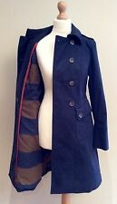 BODEN NAVY BLUE MOLESKIN COAT COTTON BNWTS SIZE 8 r BUTTON