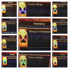 DIABLO 3 WINGS ALL 12 COSMETIC WINGS And 13 PENNANTS PATCH 2.5 XBOX 1