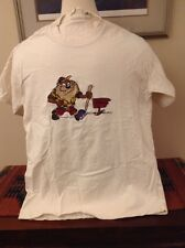 Tasmanian Devil Hiking Embroidered T Shirt  Acme Clothing Company Looney Tune