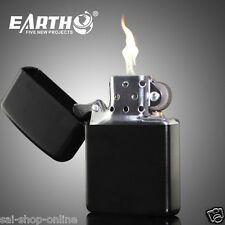 EARTH Cigarette Lighter Liquid Fuel Lighters(BLACK COLOR).