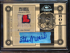 2005 TIMELESS TREASURES HOF STAN MUSIAL AUTO JERSEY PATCH GAME USED 16/25