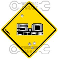HOLDEN 5.0 LITRE METAL LETTERS  - Bullet Hole Road Sign Sticker #20