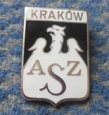 AZS KRAKOW POLAND BASKETBALL CLUB BIG SILVER VERSION ENAMEL PIN BADGE