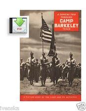 CD Book A Camera Trip Through Camp Barkeley Abilene Texas WW2 PDF