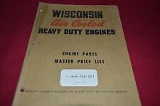 Wisconsin Master Engine Parts & Operator Manual YABE8