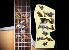 Fretboard Markers Inlay Sticker Decal for Guitar & Bass ,Ornate Bird & Flower