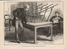 1873 LONDON - BANK OF ENGLAND - MACHINE FOR WEIGHING GOLD
