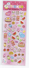 Plastic Stickers Sweets Fruits #916