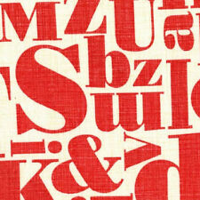 Michael Miller Patty Young Just My Type Letterpress Fabric in Red 100% Cotton