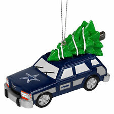 Dallas Cowboys NFL Holiday Christmas Ornament Station Wagon With Tree