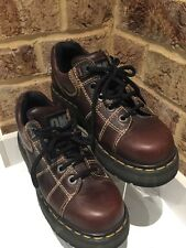 VINTAGE Martens Oxford In Pelle Dr Brown Taglia 6 Scarpe 8678 qualità Made in UK