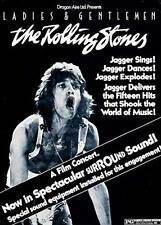 Rare 'The Rolling Stones' Jagger Concert Poster Canvas Print