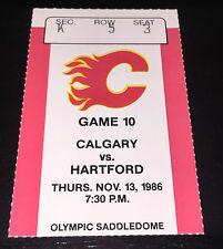 Brett Hull 1st Career Goal Ticket Stub Calgary Flames St Louis Blues 11/13/86