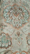 New CYNTHIA ROWLEY Floral 2 LINEN Curtain window PANELS Blue Teal Rust tan 96""