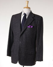 New $7495 KITON Charcoal Gray Donegal 100% Cashmere Sport Coat 42 R (Eu 52)
