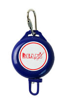 Beans Ski Pass or ID Card Retractable Keyring Lanyard - Blue