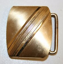 Vintage Mid Century Hadley Small Slim Brass Belt Buckle Classic Rare MINTY