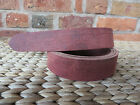"""AGED RED BUTT LEATHER BELT BLANK 3.5 mm CHOOSE YOUR WIDTH- 55"""" LONG"""