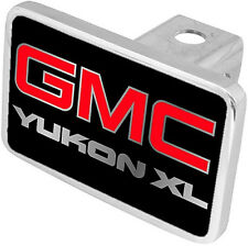 New GMC Yukon XL Red/Mirrored Logo Tow Hitch Cover Plug