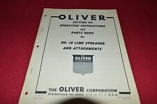 Oliver White Tractor 18 Lime Spreader Operator's Manual BVPA