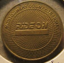 1997 Ride-On Montgomery County Transit Rockville, MD Bus Token - Maryland