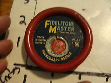 FIDELITONE MASTER PHONOGRAPH NEEDLE PACKAGE W/ DUSTER, NO NEEDLE