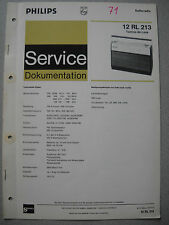 Philips 12 RL213 Kofferradio Tamina de luxe Service Manual, Ausgabe 06/71