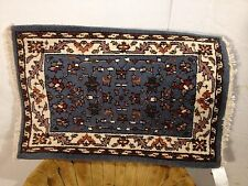 Gorgeous Hand Made Rug 3' By 2' Very Good Condition C7pix4 Close Ups MAKE OFFER