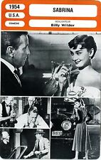 Fiche Cinéma. Movie Card. Sabrina (USA) Billy Wilder 1954