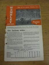 02/10/1947 Speedway Programme: Wembley v New Cross (Folded, Creased, Rusty Stapl