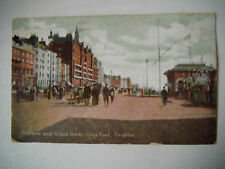 Metroplole & Grand Hotels Kings Road Brighton Early 1900s Old Postcard 1908