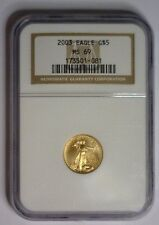 2003 ~ $5 ~ 1/10th Gold Eagle ~ NGC MS69 ~  #081