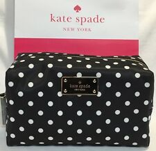 NWT KATE SPADE MEDIUM DAVIE BLAKE AVENUE COSMETIC BAG DIAMOND DOT WLRU2354