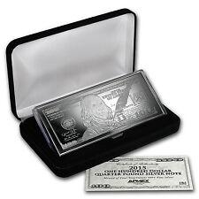 4 oz Silver Bar - 2015 $100 Bill (W/Box & COA) - SKU #88696