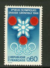 TIMBRE 1520 NEUF XX LUXE - PRELUDE AUX JEUX OLYMPIQUES D' HIVER DE GRENOBLE