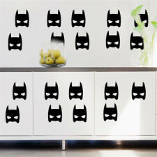 20 Super Hero Batman Mask Removable wall stickers for Kids /Nursery Vinyl decal