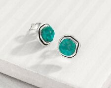 "New Silpada .925 Sterling Silver ""Turquoise Ripple"" Earrings- P3469"