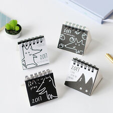 2017 Mini Cartoon Dog Desk Desktop Calendar Flip Stand Table Office Planner