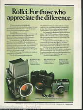 1980 Rollei Camera advertisement, ROLLEI, Rolleiflex, British advert