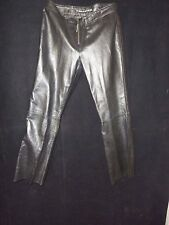 DKNY Jeans Black Lined Leather Pants 30 x 28 Size 10