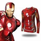 Avengers Age of Ultron Iron Man Tony Stark Printed Long Sleeves Cos T-shirt Hot