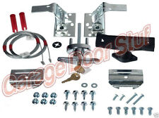 Garage Door Lock Kit w/ Spring Latch - Keyed in Handle-UNIVERSAL- All Doors