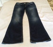 SILVER Women's Jeans Aiko Bootcut 29 x 33 Stitching on Pockets