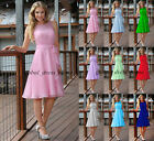 New Knee Length Short Bridesmaid Dresses Prom Evening Gown Size4-6-8-10-12-14-16