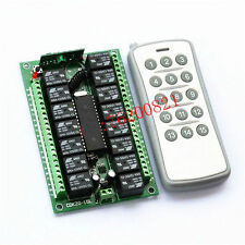 12v relay 15CH wireless RF Remote Switch Transmitter Switch+ Receiver F/LED LAM