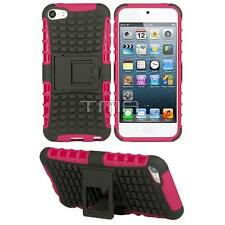 Rugged Impact Hybrid Hard Soft Case W/ Stand For iPod 5 5th Generation - Pink