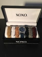 XOXO Women's Watch Set XO9153 Seven Color Snake-Embossed Interchangeable Strap