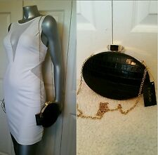 NWT BEBE LOGO  CHAIN CLUTCH/SHOULDER BAG