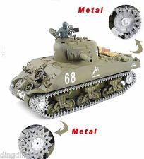 HENG LONG 2.4G RADIO REMOTE CONTROLLED R/C Sherman  --Upgraded Version  UK